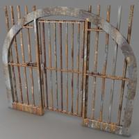 3d prison door metal