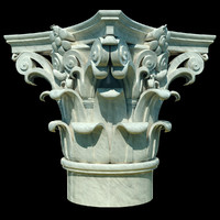 3d column corinthian capital model