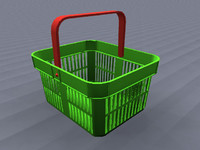 shopping basket 3d obj