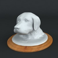 printable print sculpture portrait 3d model