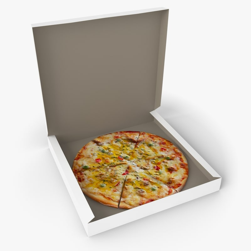 pizza box 3d x