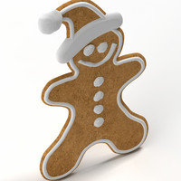 3d gingerbread ginger bread model