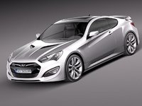 3d model hyundai genesis coupe 2013