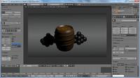 barrel coin cannonballs 3d model