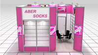 3d model aber socks fair stand
