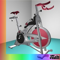 3d model gym bicycle