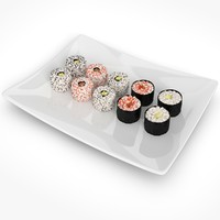 3ds max sushi rolls