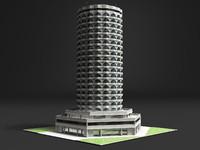 3d model hotel skyscraper
