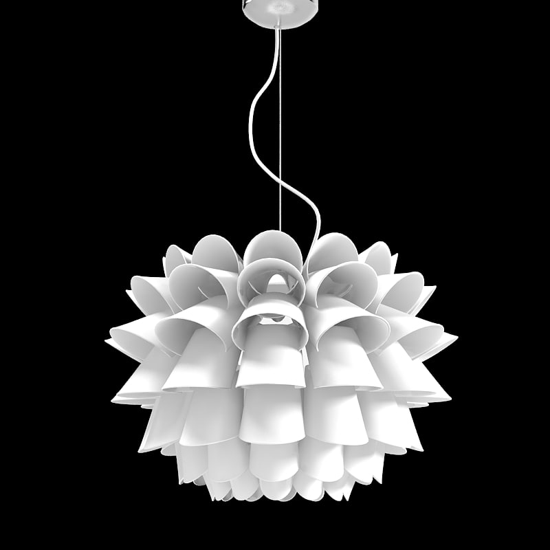 POssini Euro Design White Flower Pendant Chandelier modern contemporary 1.jpg