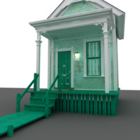cute little cottage 3d obj