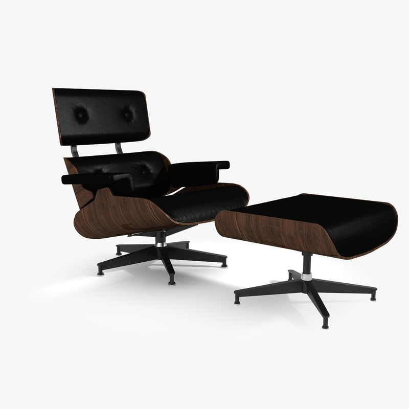 3d model iconic lounge chair ottoman Iconic chair and ottoman