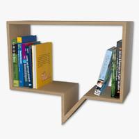 free bookshelf modern 3d model