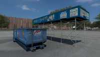 3ds max construction scaffolding dumpster