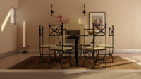 iron dining room 3d model