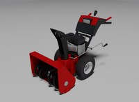 3d snow blower 2 model