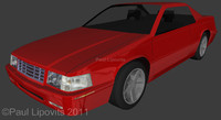 1999 cadillac eldorado car 3d model