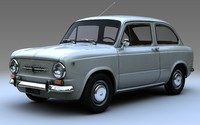 3d model fiat 850 limousine