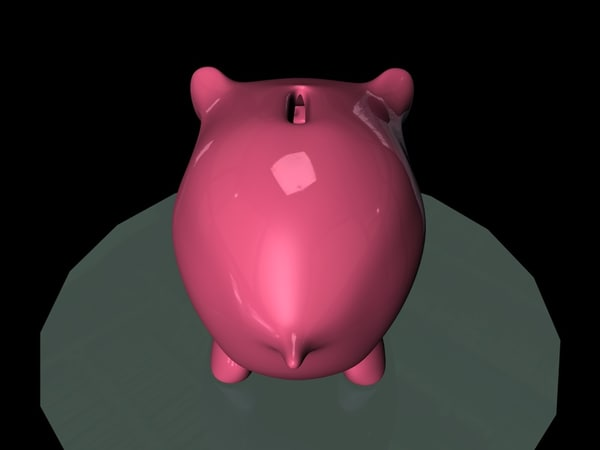 3d model piggy bank - Piggy-bank (skin only)... by Digitvisions
