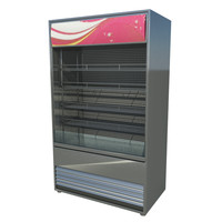 3d model commercial refrigerator