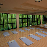 3d yoga studio lighting