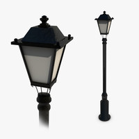 3d model streetlight light lantern