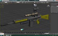 g3 assault rifle attachment 3d model