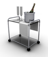 little room table champagne 3d model
