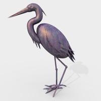 Iron Heron crane statue