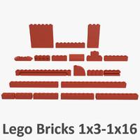 Lego Bricks 1x3 - 1x16