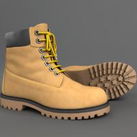 realistic boots 3d model