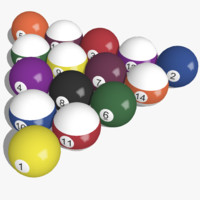 3D Pool Balls (Billiard Ball Set) SketchUp