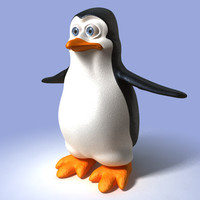 3d c4d penguin cartoon toon