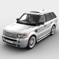 3d realistic range rover sport