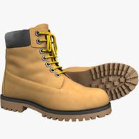 3d realistic boots model