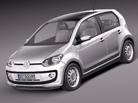 volkswagen up! city car 3d model