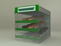 doughnut pastry display 3d model