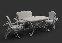 3ds max dining tables chairs
