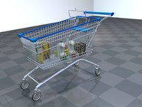 cart shopping car 3d model
