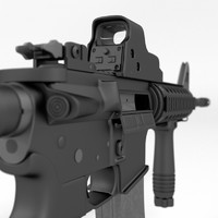 3ds max m4 carbine assault rifle