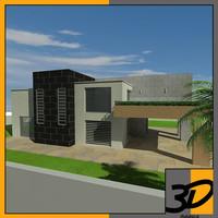 3d modern house model