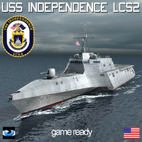uss independence sh60 3d max