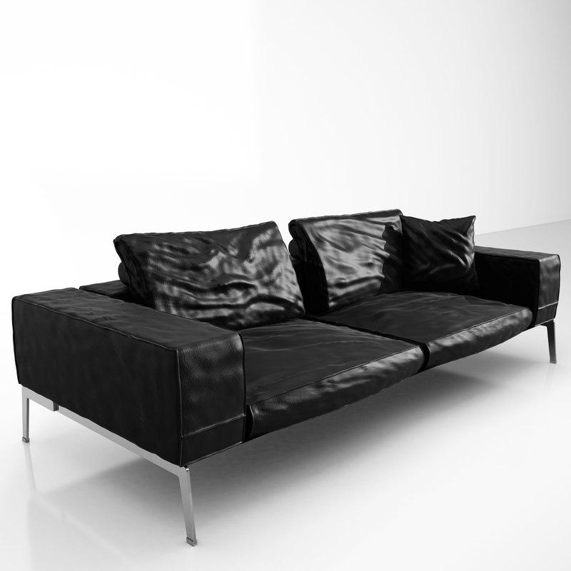 flexform lifesteel 240 cm 3d model. Black Bedroom Furniture Sets. Home Design Ideas