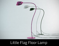 3d 3ds little flag floor lamp