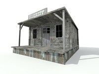 3d house sheriff model