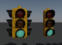 3d model road signs traffic lights