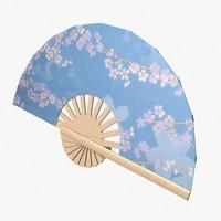 folding fan 3d model