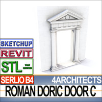 Renaissance Doric Door C Revit STL Printable
