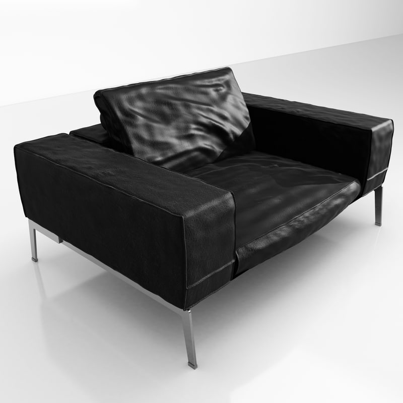 3ds max flexform lifesteel 145 armchair. Black Bedroom Furniture Sets. Home Design Ideas