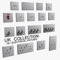 UK Electric Fixtures Collection Classic White