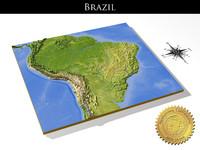 relief brazil 3d model